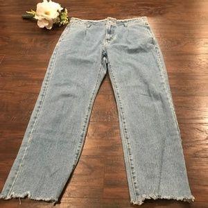 Momokrom by Nasty Gal Raw hem mom jeans raw waist